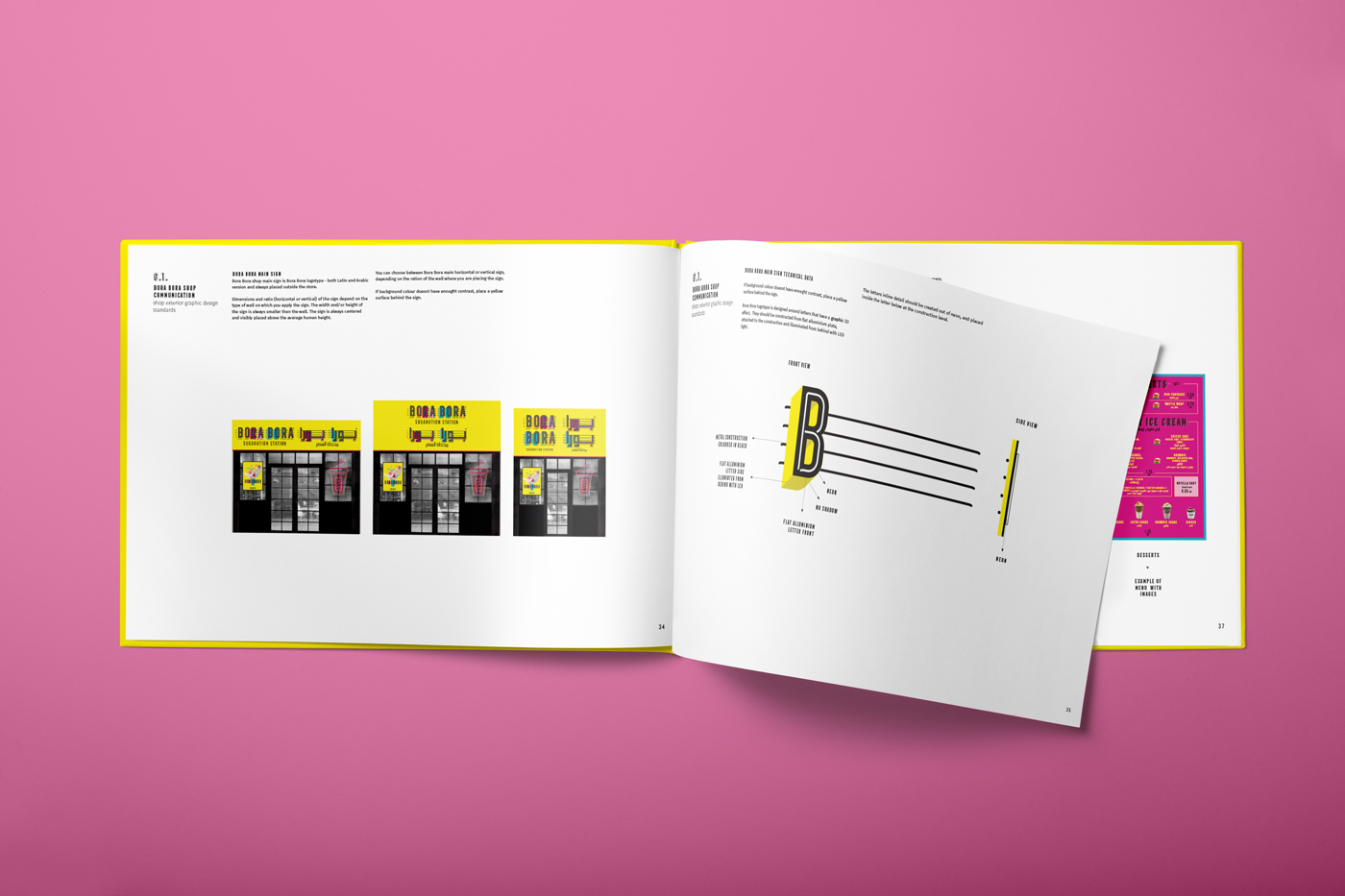 Zambelli Brand Design - Bora Bora Sugaration Station - Book of Graphic Standards