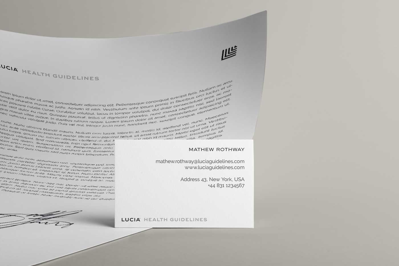 Lucia Health Stationary